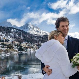 Fotografo di matrimonio: matrimonio invernale a St. Moritz